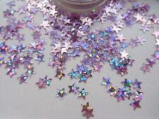 NAIL ART BRILLANTINI ROSA SILVER OLOGRAFICA * Stars * POT Spangle Glitter Decorazione