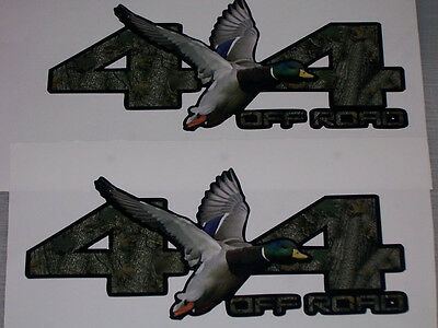 Mallard Duck 4x4 OFF ROAD Bed Decals Sticker Decal F150 F250 F350 Ram GMC Chevy