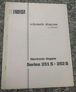 Farfisa-Electronic-Organ-2nd-edition-Schematic-Diagrams-Series-251S-252S-Manual