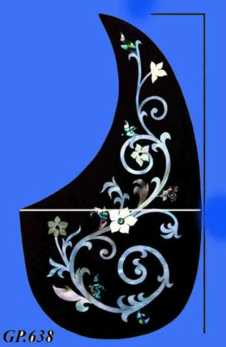 Flower Inlaid Handmade-Solid R0sewood Pick guard Acoustic Guitar Parts GP638