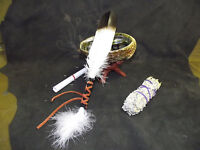 Sage Smudge Kit With Abalone Shell Blessed Feather Sage Stand Complete Kit