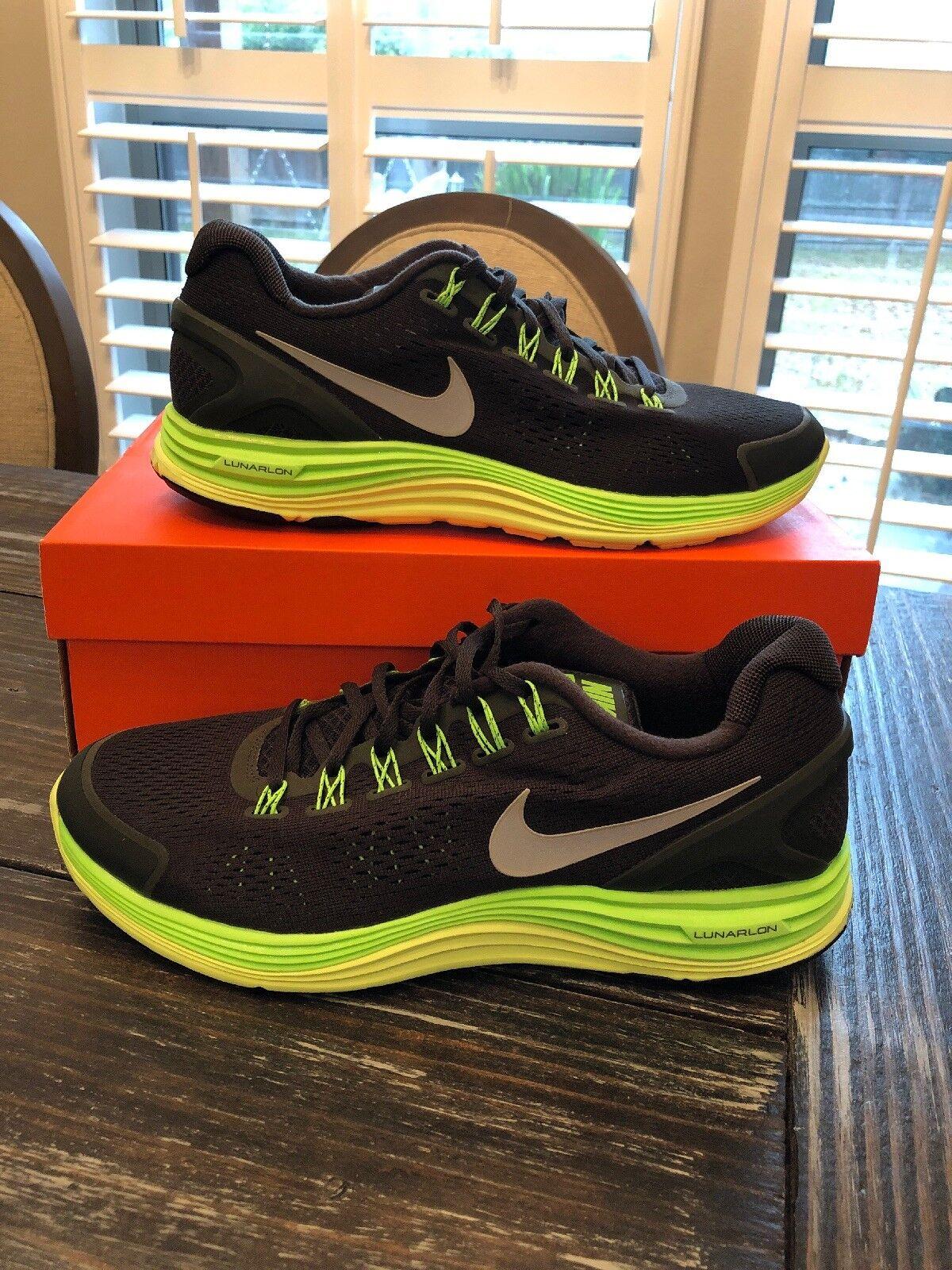 Nike LunarGlide+ 4 OG Black&Lime Green  Size 10 Vintage Nike shoes