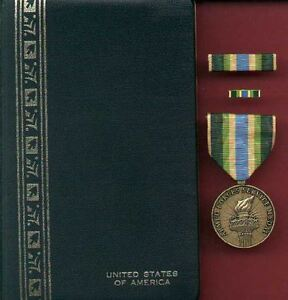 Details about Armed Forces Service medal in case with ribbon bar and lapel  pin