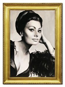 Oil-Painting-Pictures-Hand-Painted-Frame-Sophia-Loren-96510