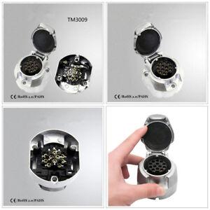 Zocalo-1-13-pin-Enchufe-Remolque-Conectores-para-enganche-de-remolque-de-coche