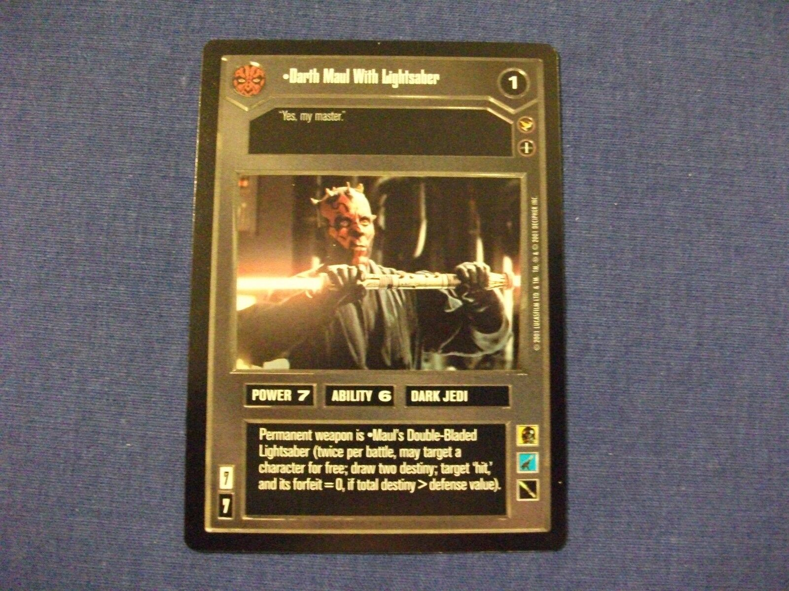 Star Wars CCG Theed Palace Darth Maul with Lightsaber
