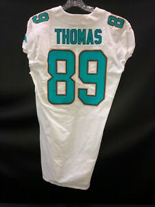Details about #89 JULIUS THOMAS MIAMI DOLPHINS GAME USED WHITE AUTHENTIC JERSEY YR-2017