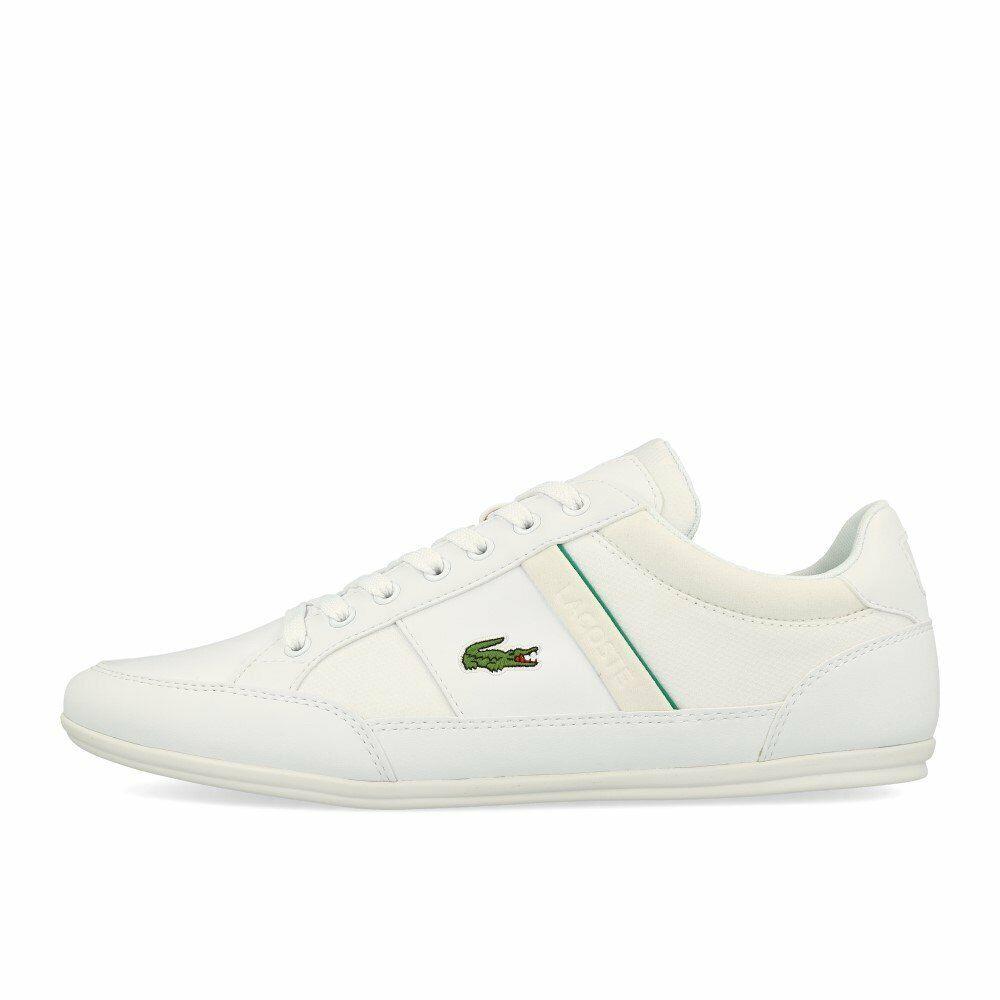 Lacoste Chaymon 219 1 CMA Weiß Grün Schuhe Turnschuhe Weiß Grün