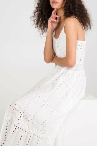Femme broderie anglaise en coton blanc robe d/'été