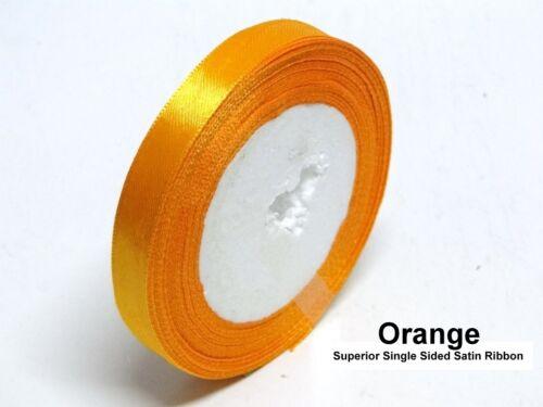 Satin Ribbon Single Sided Wedding Tying Ribbon Craft Trimming In 20 Meter Rolls