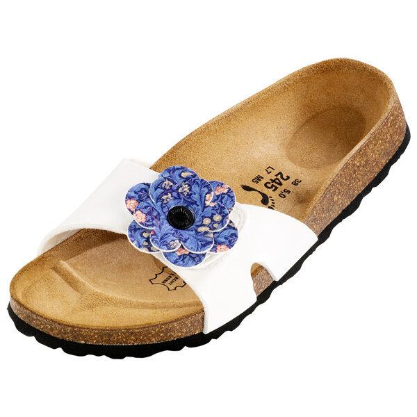 Betula Mayra Birko-Flor Zapatos blancoo Azul Flores Flores Flores 145783 Sandalias Ancho  mejor marca