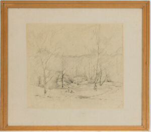 Maurice Feild (1905-1988) - Mid 20th Century Charcoal Drawing, Figure Landscape
