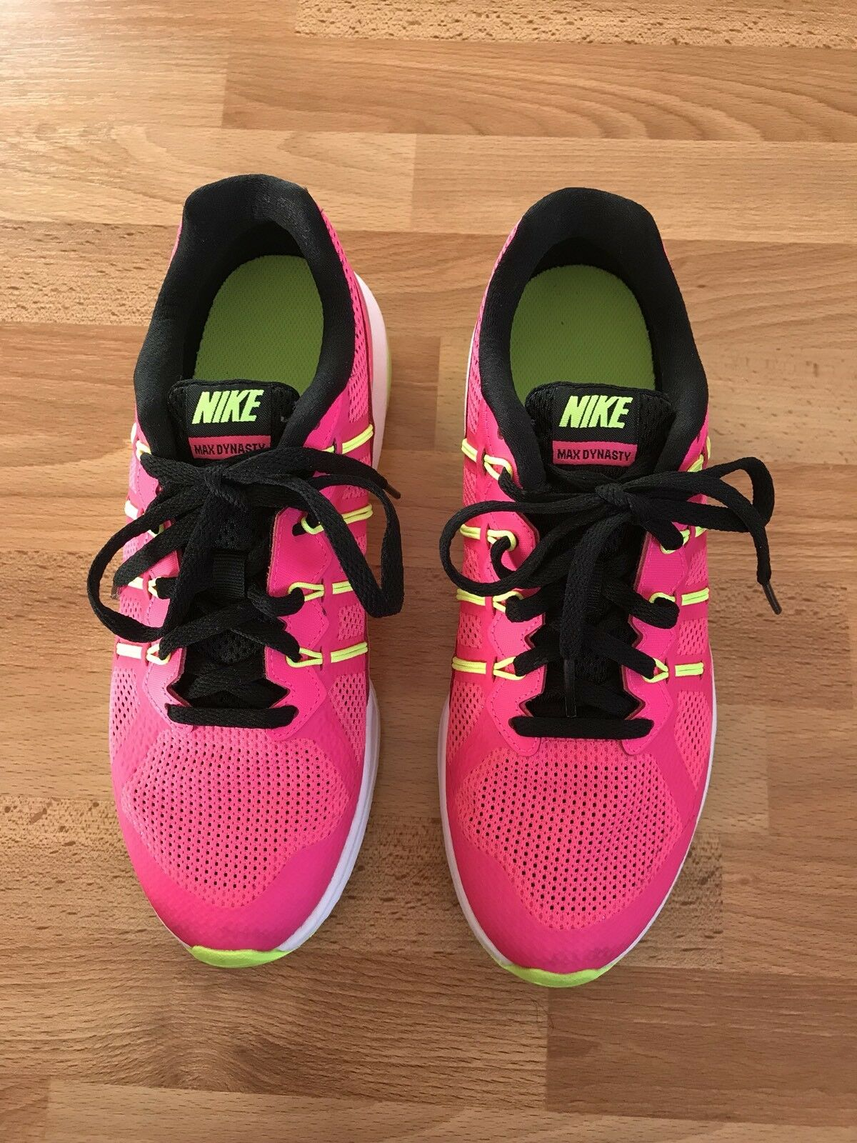 Lovely Ladies Nike Max Dynasty Fluorescent rose, rose, rose, Jaune & blanc Trainers -Size 5 348c19