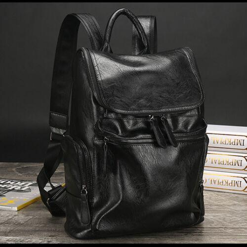 New Men/'s Genuine Leather Backpack Casual Travel Bag Laptop bag Boys School bag
