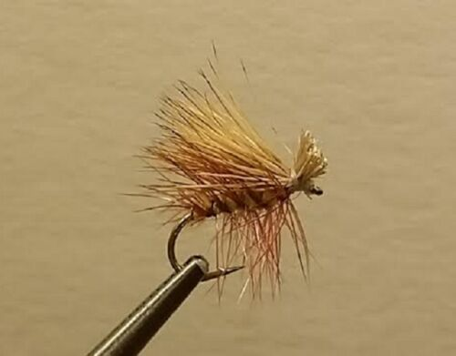 Trout Dry Fly Yellow Elk Hair Caddis 1 Dozen