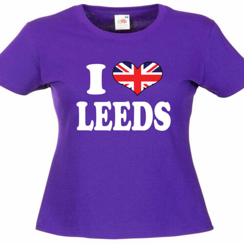 I Love Heart Leeds Ladies Womens Lady Fit T Shirt