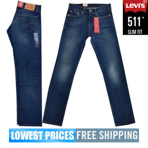 2f27d70a Levi's Men's NWT 511 Slim Fit Stretch Jeans in Blue Wash With Free ...