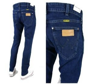 b27a5c10 NEW WRANGLER by PETER MAX TAPERED SLIM JEANS DARK FIT LARSTON ...