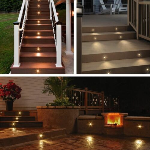 6er Set LED Bodenlampen Boden Einbaustrahler außen Terrasse Garten Beleuchtung