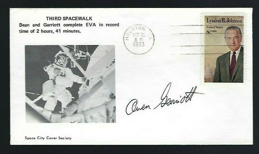 s l1600 - Owen Garriott signed cover NASA Skylab & Shuttle Astronaut