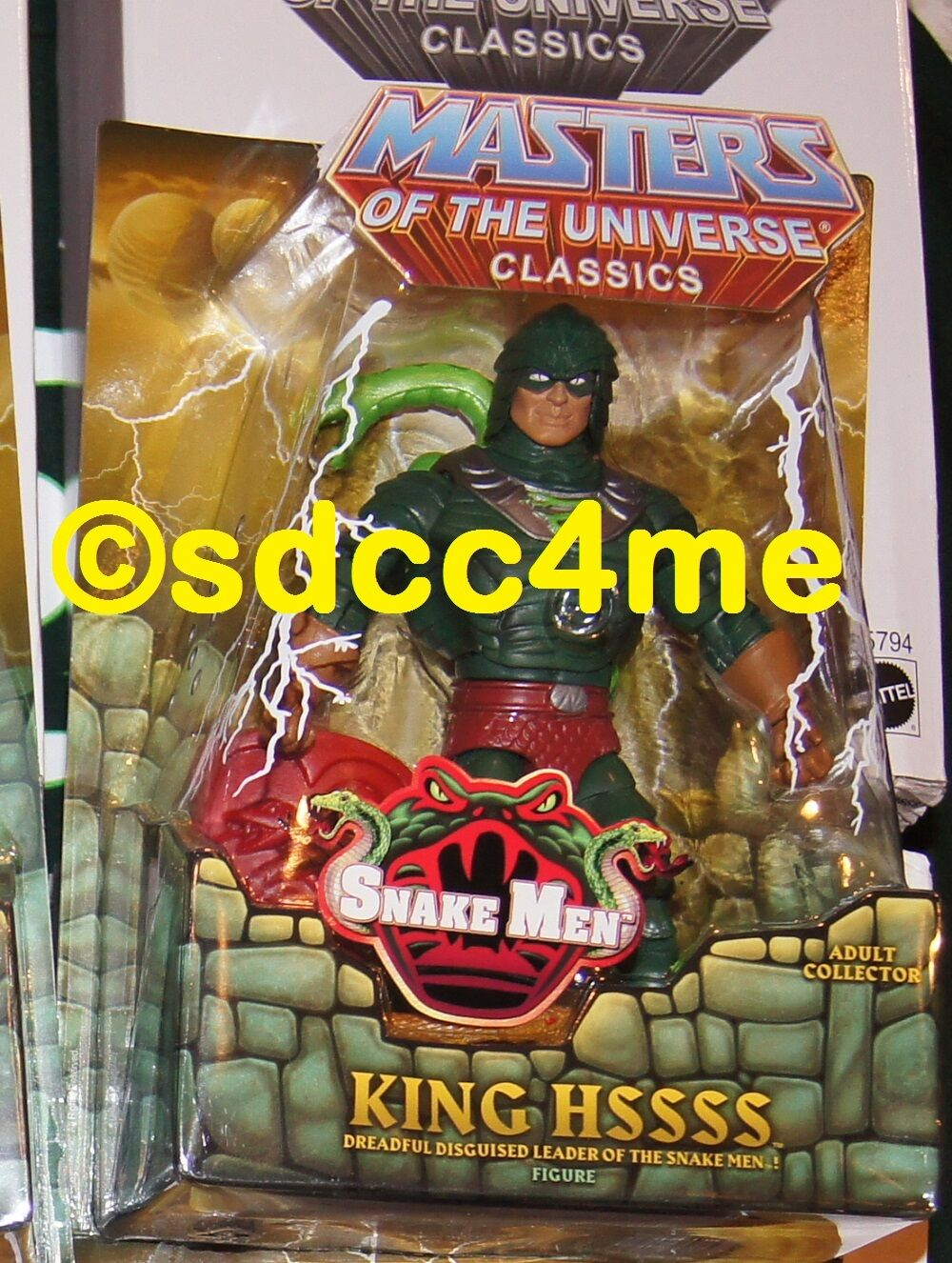 MOTU Classics KING HSSSS NEW MIB Masters of the Universe Action Figure Hiss Hsss