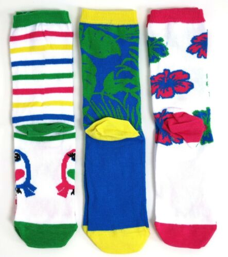 3 PAIRS LADIES EXOTIC TROPICAL TOUCAN SOCKS UK SIZE 4-8 EUR 37-42 USA 6-10