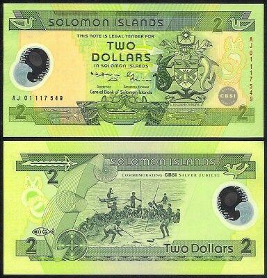 Solomon Islands 2 Dollars p-25 2011 UNC Banknotes