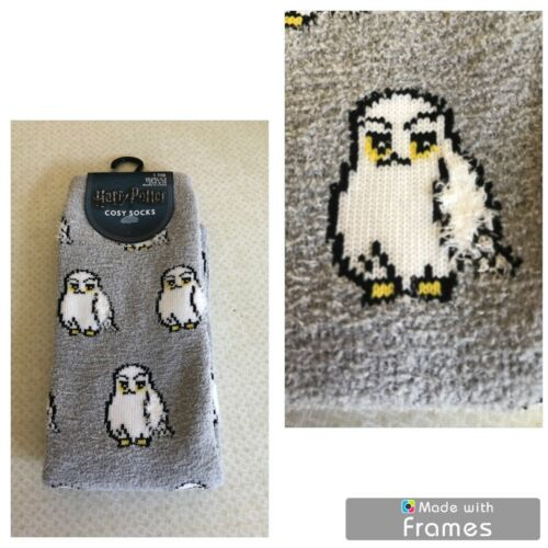 HARRY POTTER COSY SOCKS//SLIPPERS//FOOTLETS...BRAND NEW.SIZE 4-8..HOGWARTS..HEDWIG