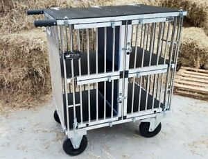 Details about Titan 4 Berth LARGE Aluminium Dog Show Trolley with 8