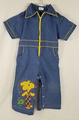 70s Kids Overalls Bootcut Flare Size 2T3T 70s Kids Clothes Vintage Toddler Overalls Toddler Overalls Vintage Toddler Jumpsuit Blue