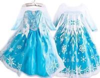 New Princess Queen Elsa Kids Cosplay Frozen Costume Party Fancy Dress