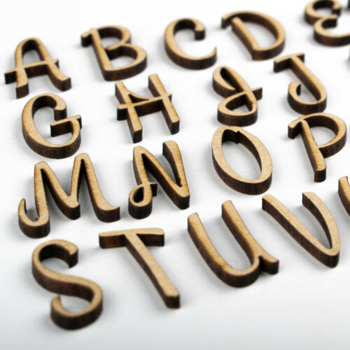 Wooden Letters And Numbers MDF Shapes Decoration Scrapbook Embellishments