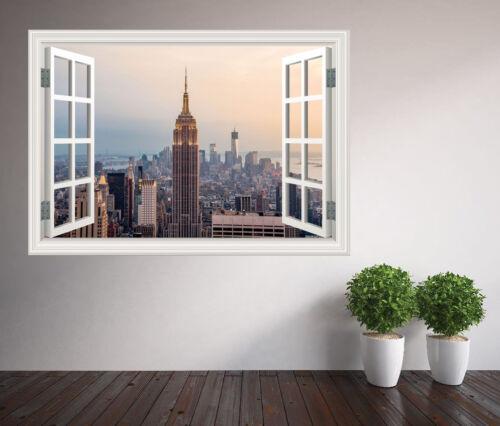 Fenêtre Autocollant Mural Vue de l/'Empire State Building New York 18166706ww