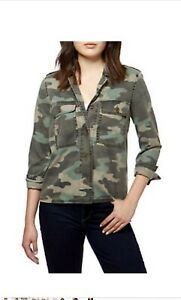 Lucky-Brand-Camouflage-Shirt-Jacket-Womens-Size-S-P-Retails-119-NWT