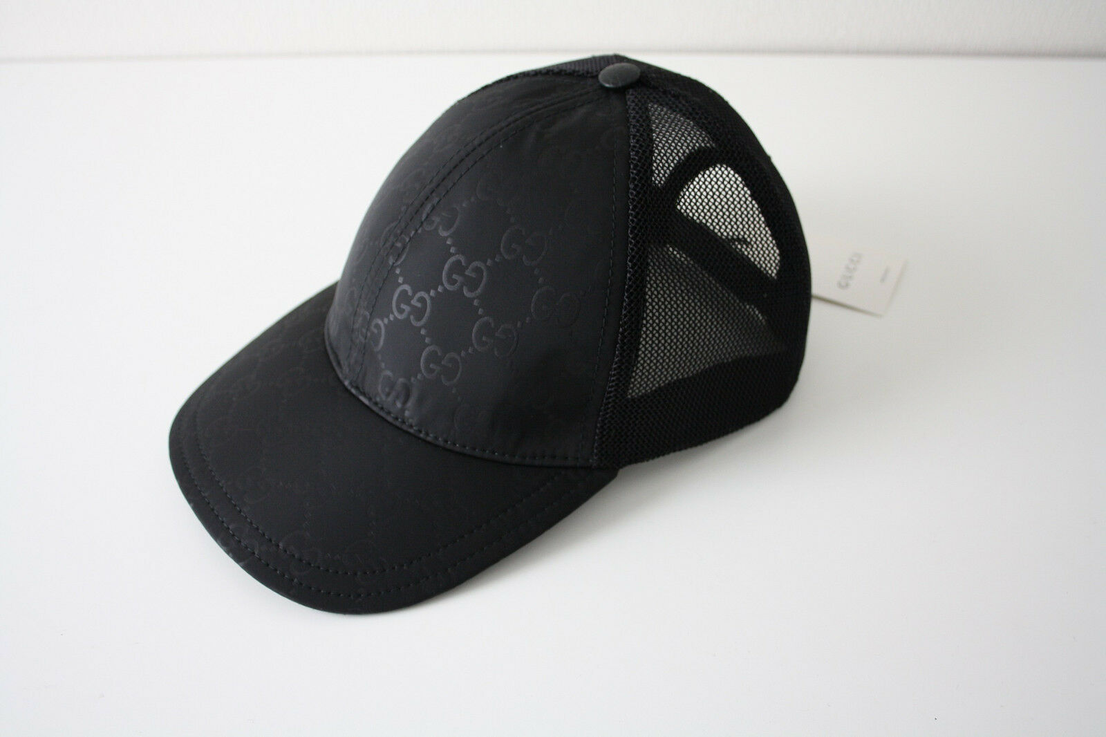 3b11c476228 Gucci Black GG Nylon Canvas Baseball Hat Size L (59) 510950 RARE ...