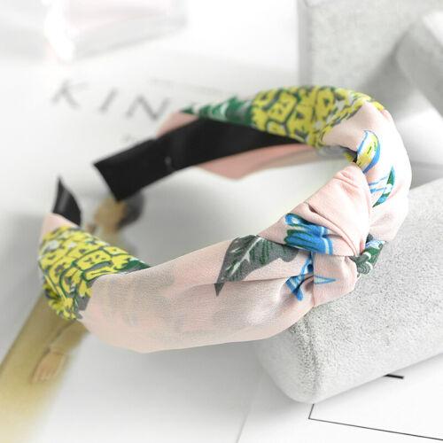 Frauen Mädchen Turban Twist Bogen Knoten Haarband Stirnband Haarband Hoop Wrap