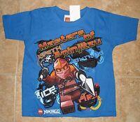 Lego Ninjago Blue Short Sleeve Shirt Tee Shirt 4, 5/6, 7
