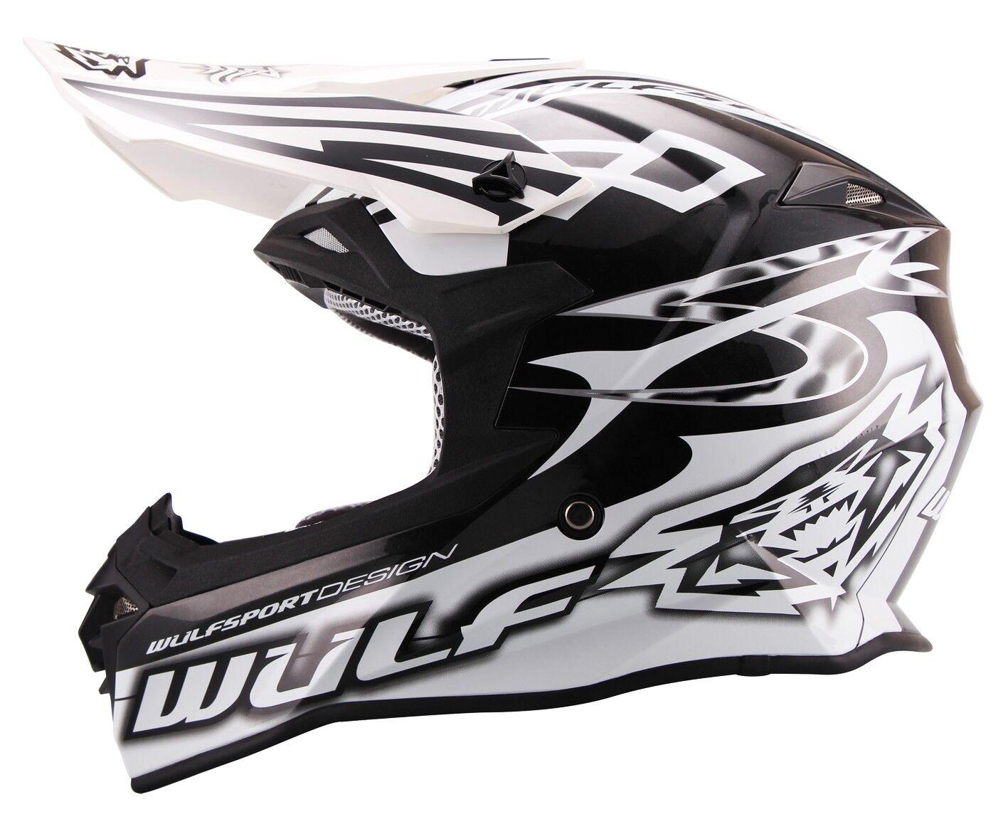 Wulfsport Cross Helm Sceptre L (59-60cm) weiss Motorrad Quad Bike Enduro MX BMX