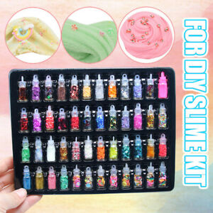 48Pcs-Sequins-Glitter-Filler-Soft-Slime-Toys-For-Kids-Children-Mud-DIY-Kit-UK