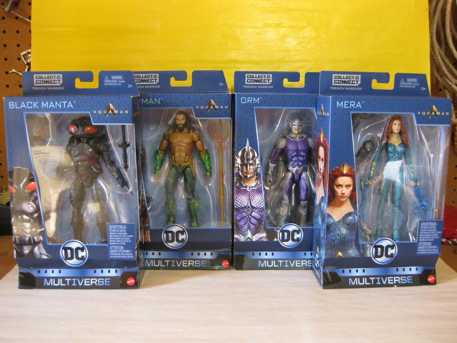 2018 DC Universe Multiverse 6  Aquaman Trench Warrior CNC BAF Set Of 4 New MIP