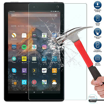"2PACK Tempered Glass Guard Film For Amazon Kindle Fire HD 8/"" Version 2017 /& 2018"