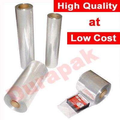 "28/"" 250 Ft Shrink Wrap Tube Tubing Film 100 Gauge PVC Heavy Duty Retail Packing"