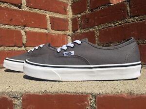 Details about Vans Authentic Pewter Gray True White Canvas Skate Sneaker Men Size 5.5 Women 7