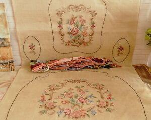 Image Is Loading 63 034 Huge Full Set Vintage Tramme Needlepoint