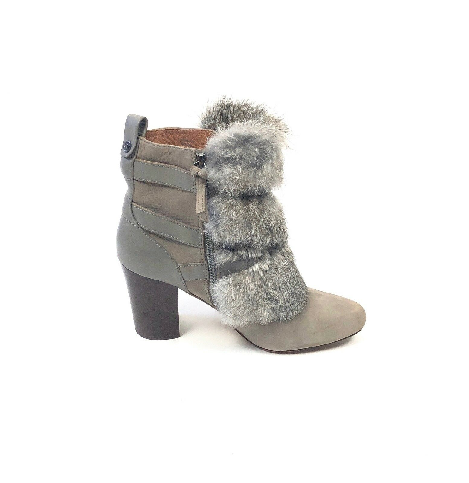 Louise et Cie Yuma Beige Suede And Rabbit Fur Boots Size 9