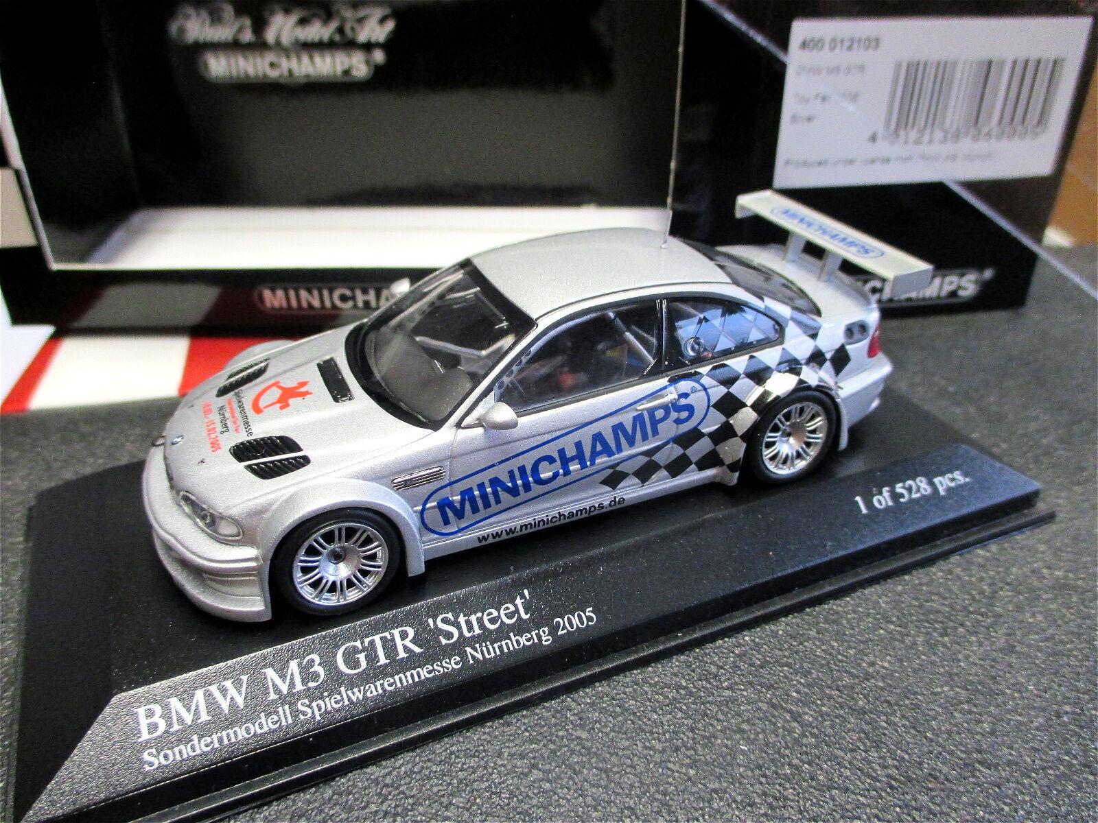 1 43 BMW m3 GTR  street  jouets-Foire-modèle Nuremberg 2005 Minichamps MINT