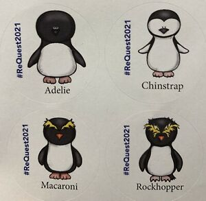 Set Of 8 Antarctic Penguin Stickers #ReQuest2021