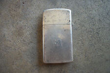 1960's sterling silver slim size Zippo lighter
