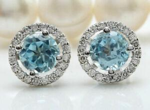 Aquamarine-925-Plated-Silver-Wedding-Engagegement-Drop-Dangle-Ear-Stud-Earrings