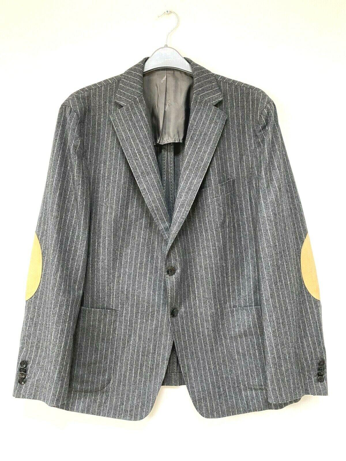 ! increíble! Windsor sastrería para Hombre Chaqueta Blazer de lana gris de rayas Talla EU54 UK44